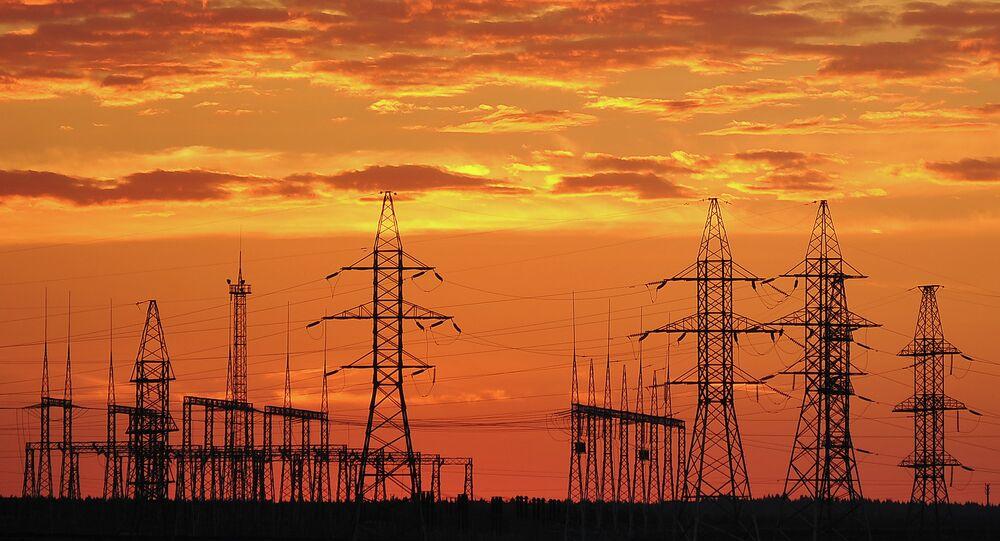Power transmission lines in Kaluga Region