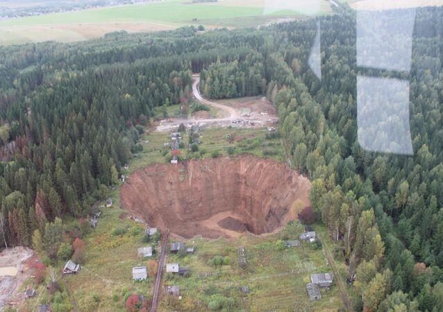 Sinkhole in Solikamsk