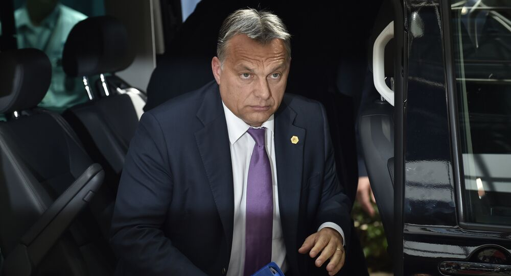 Hungarian Prime Minister Viktor Orban arrives for an EU summit at the EU Headquarters in Brussels on June 25, 2015