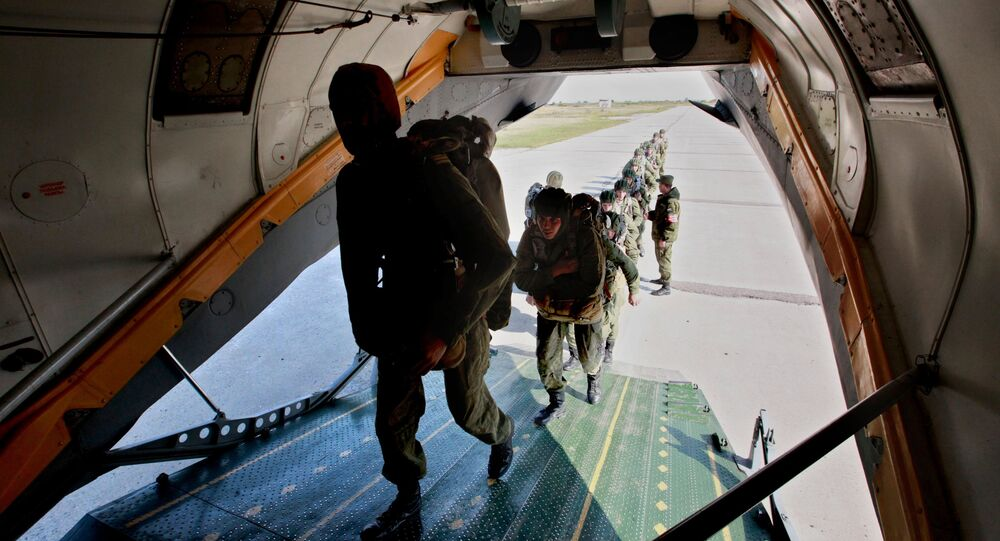 Arriving at a base outside the southwestern Russian Black Sea coast city of Novorossiysk earlier this week, Belarusian and Serbian airborne forces have joined with their Russian counterparts for a training exercise dubbed 'Slavic Brotherhood'. The drills include exercises against a 'Maidan scenario' aimed at destabilizing national governments.
