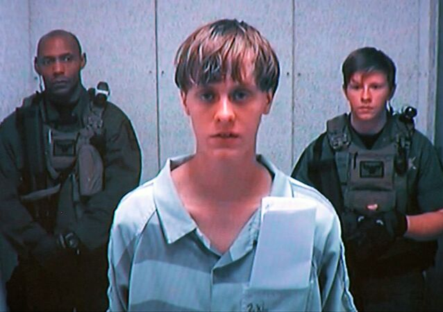 Dylann Storm Roof appears by closed-circuit television at his bond hearing in Charleston, South Carolina in this file photo taken from video June 19, 2015