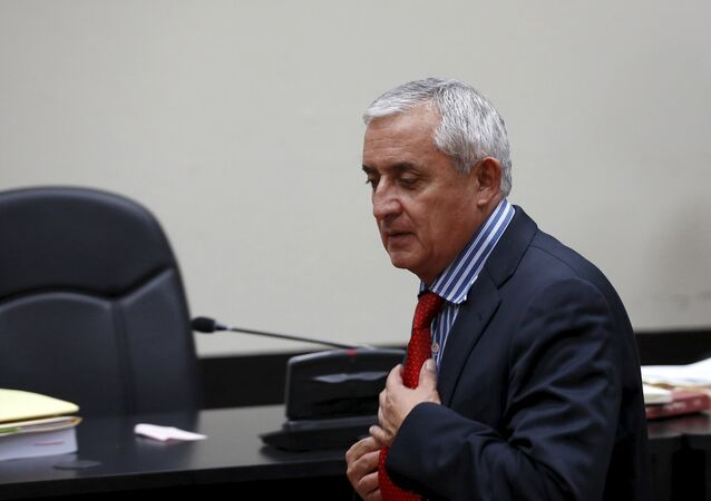 Guatemala's former President Otto Perez Molina enters the courtroom after a break at the Supreme Court of Justice in Guatemala City, September 3, 2015