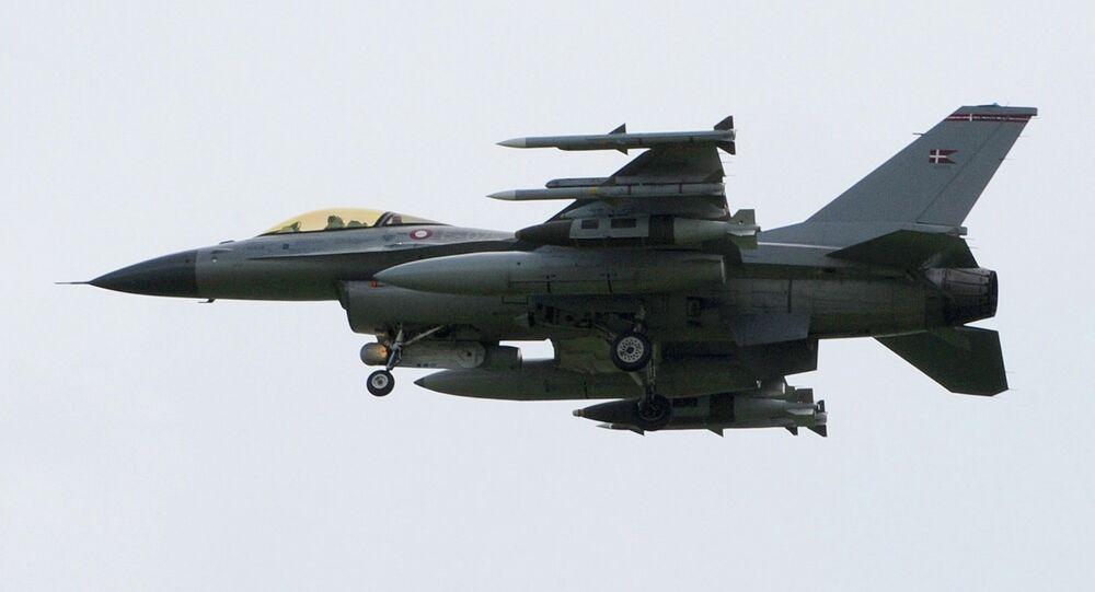 Danish F16 fighter jet