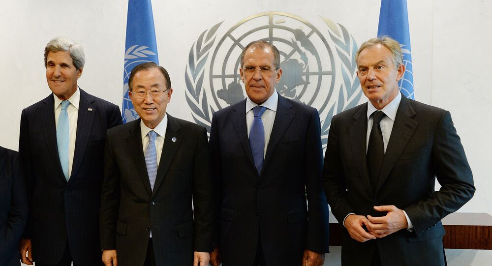 Members of The Middle East Quartet meet during the 68th Session of the United Nations General Assembly