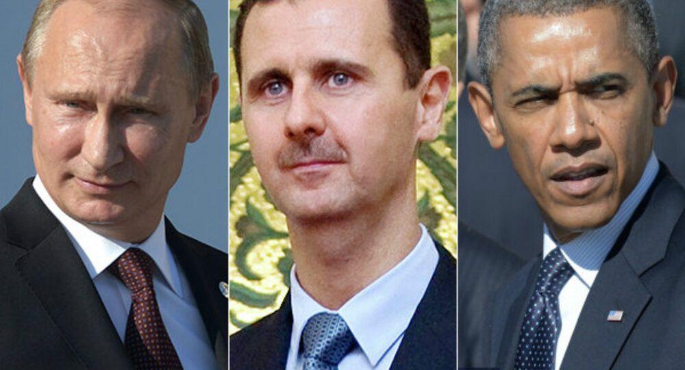 Russian President Vladimir Putin, Syrian President Bashar Assad, US President Barack Obama