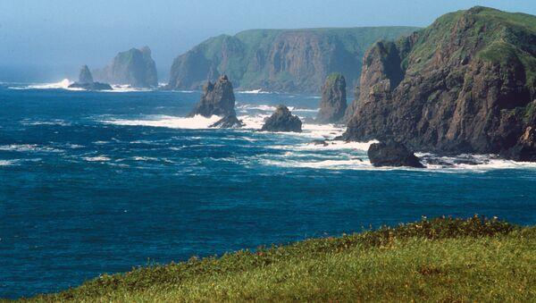 Rocks off Shikotan Island, aka Spanberg or Sikotan, in the Kurils - Sputnik International