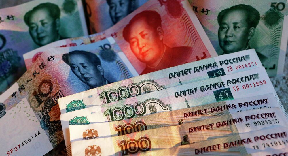 Rubles and yuans