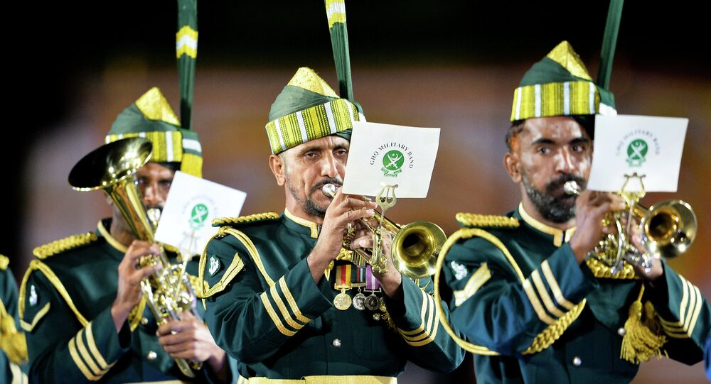 The Pakistani military band, created during the times of the partition of the British Indian Empire into India and Pakistan in 1947, is known for playing tunes of National Anthem and other national songs to boost the morale of the Pakistani Armed Forces.