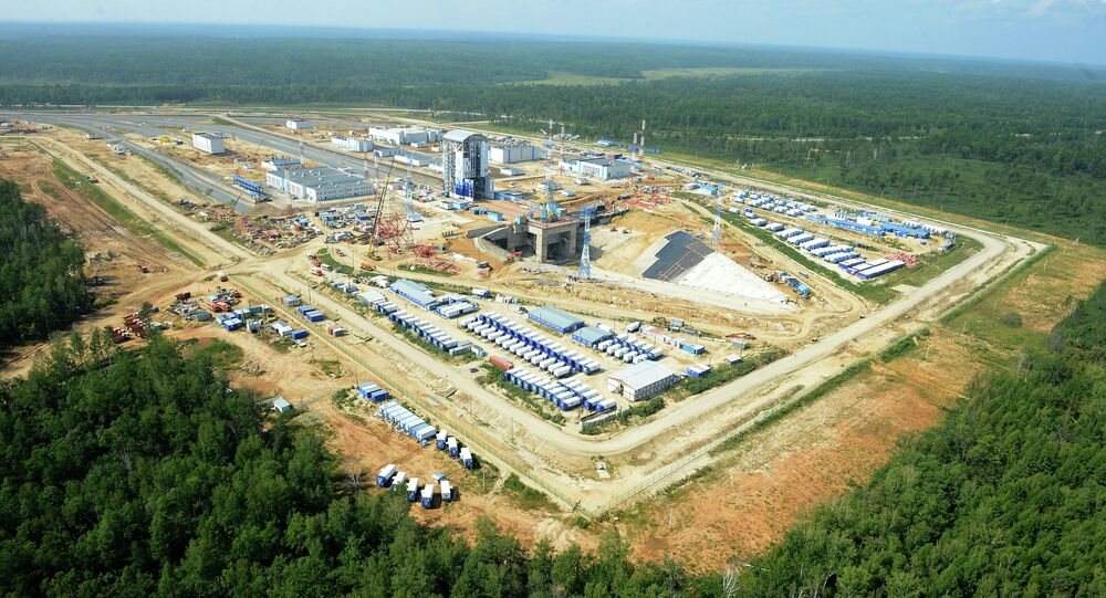 Construction of Vostochny space center in Amur Region