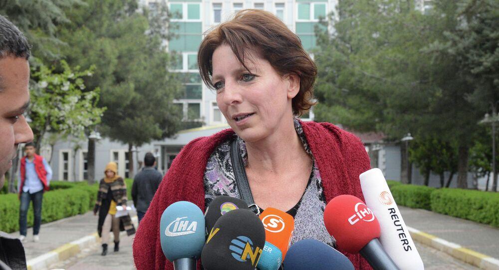 Dutch journalist Frederike Geerdink. File photo