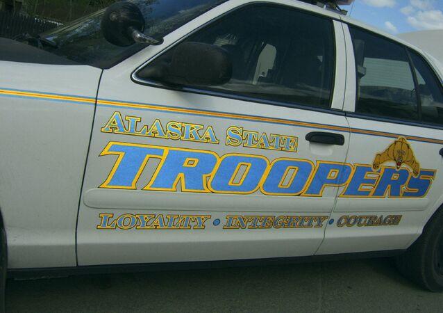 An Alaska State Trooper's squad car