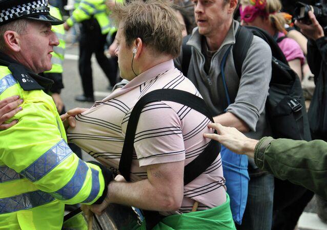 People striking in London
