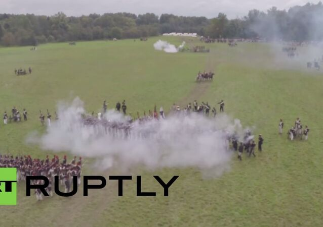 Russia: Spectacular drone footage shows Battle of Borodino reenacted