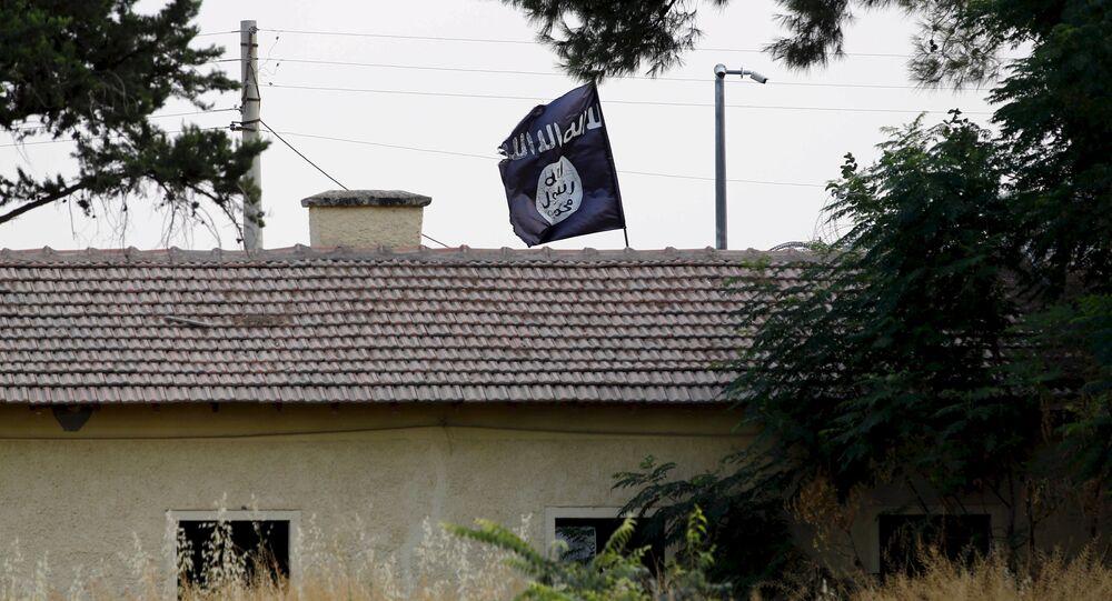 An Islamic State flag