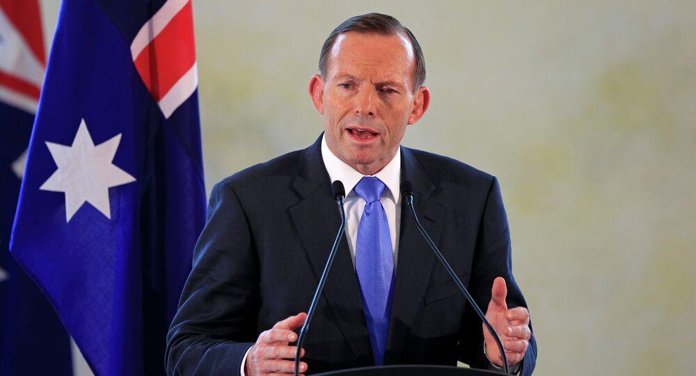 Australian Prime Minister Tony Abbott speaks during a joint press conference