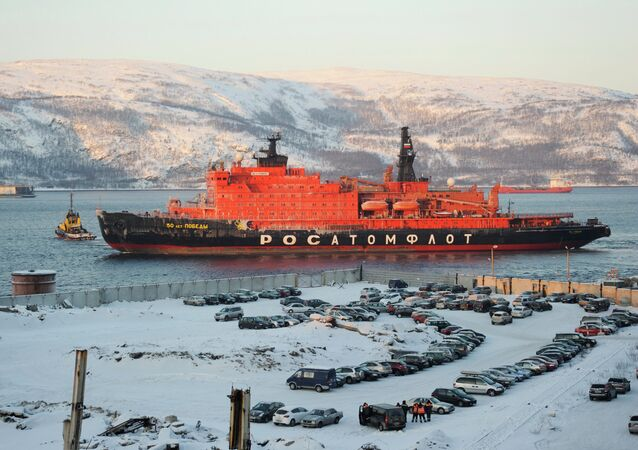 Nuclear icebreaker 50 Let Pobedy goes on voyage