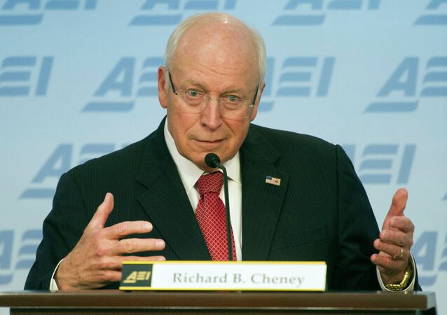 Former Vice President Dick Cheney speaks at the American Enterprise Institute in Washington, Wednesday, Sept. 10, 2014.
