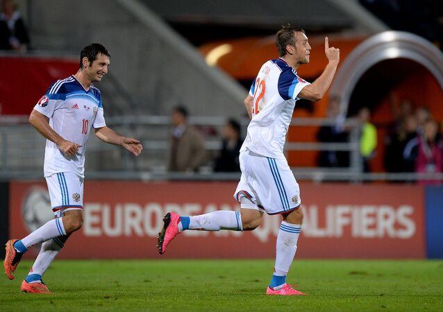 Russian national football team beat Liechtenstein 7:0 in a Euro 2016 qualifier.