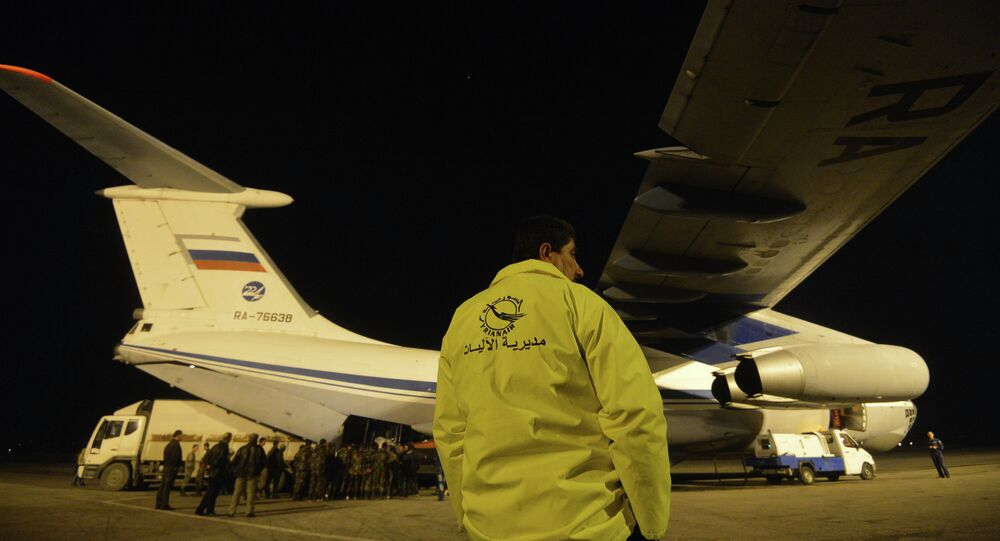 Russian plane with humanitarian aid arrives in Syria