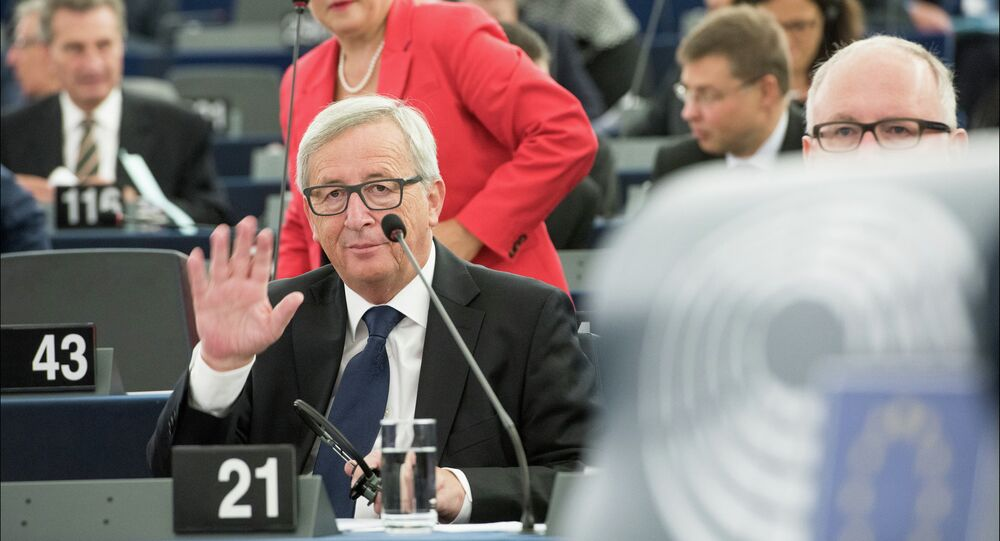 European Commissioner President Jean-Claude Juncker during the SOTEU debate in the plenary chamber