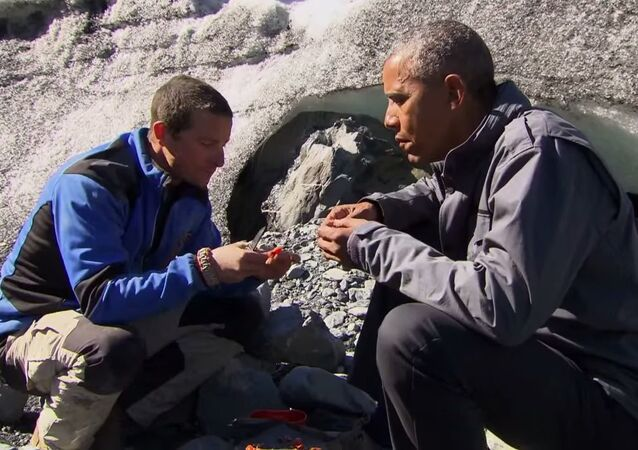 Bear Prepares a Salmon Meal for President Obama - Running Wild with Bear Grylls