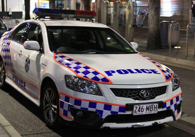A police car in Gold Coast, Queensland, Australia