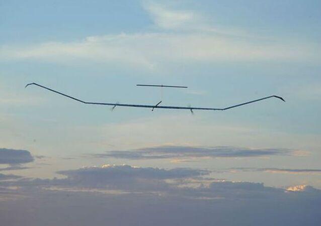 The solar-powered Zephyr UAV