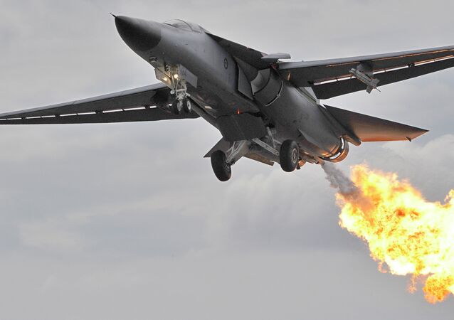 A Royal Australian Air Force F111 bomber