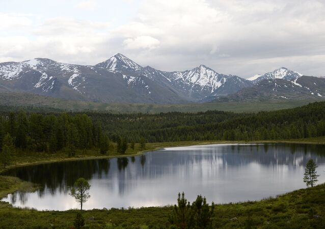 A lake in the Ulagan District of the Republic of Altai.