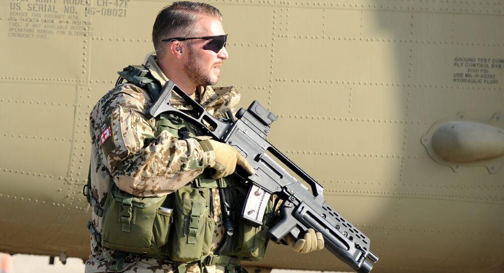 A German soldier in Afghanistan