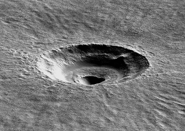 Digital terrain modeling of the Arcadia Planitia's crater investigated by the University of Arizona's Ali Bramson
