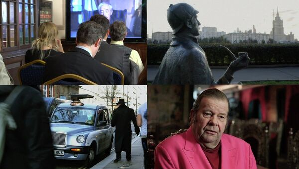 A collage of stills from the 'Through Sherlock's Eyes' film and its presentation at the Russian Embassy in London - Sputnik International