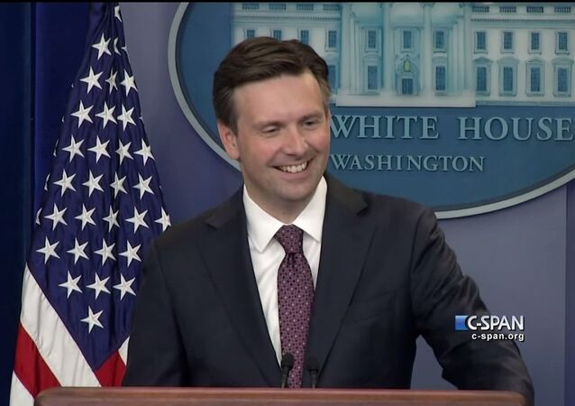 Siri answers a question at White House Press Briefing