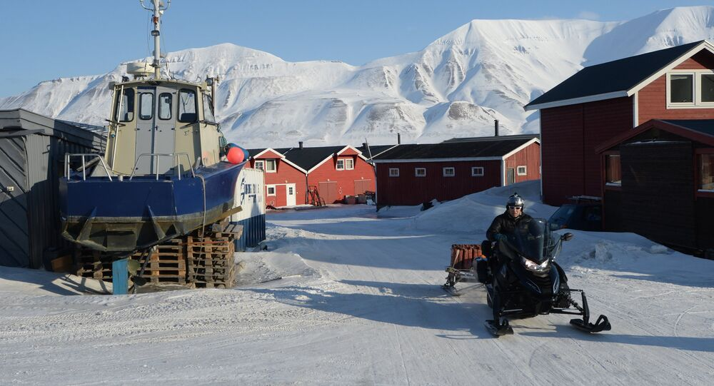 Longyearbyen, the capital of the Spitsbergen (Svalbard) Archipelago