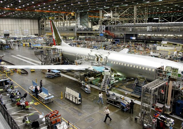 Workers build a Boeing Co. 737 at the company's Renton, Wash. assembly plant Tuesday, Jan. 31, 2006