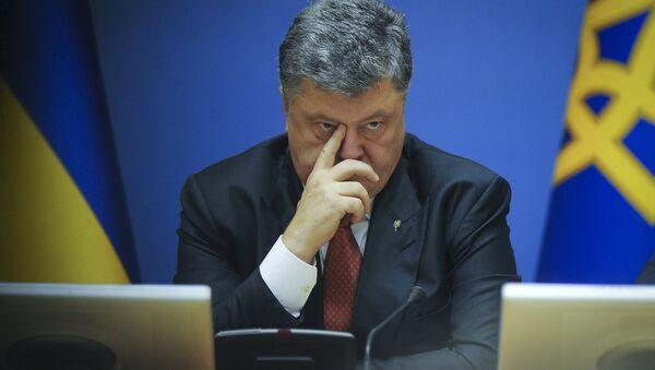 Ukrainian President Petro Poroshenko attends a cabinet meeting in Kiev, Ukraine, Septemver 8, 2015 - Sputnik International