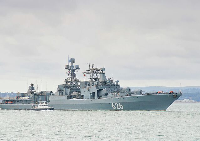 Udaloy class destroyer of the Russian Federation Navy RFS Vice Admiral Kulakov