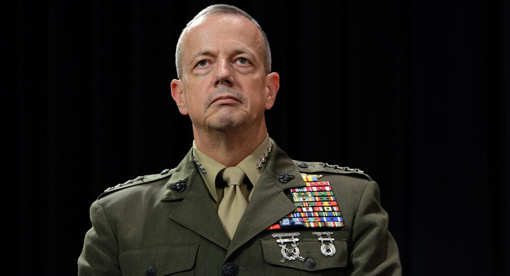 Newly appointed Supreme Allied Commander in Europe (SACEUR) US General John Allen looks on following a meeting of NATO Defense Ministers at NATO headquarter in Brussels on Otober 10, 2012