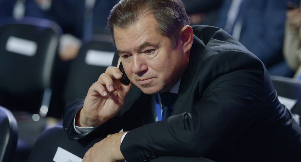 Sergei Glazyev, Russian presidential adviser on regional economic integration, attending the Second Action Forum of the Russian Popular Front