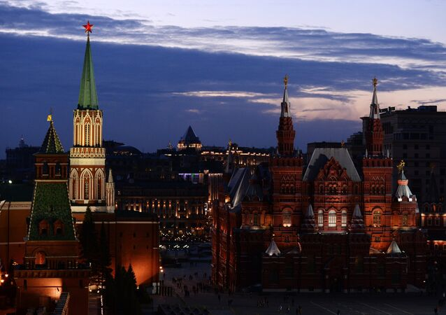 Earth Hour event in Moscow