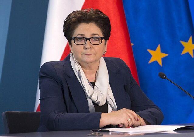 Polish Interior Minister Teresa Piotrowska