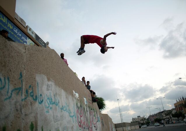 Addicted to Extreme Sports: Conquerors of Gaza Strip