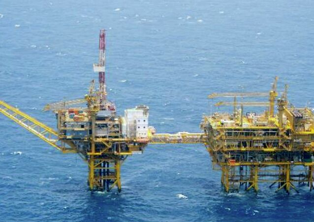 Chinese offshore platforms in the East China Sea (File)
