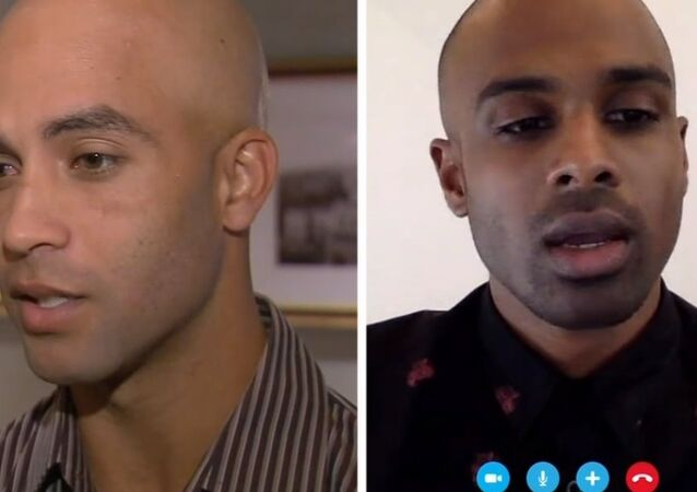 James Blake (left) was arrested when he was mistaken for Sean Satha (right) who also turned out to be innocent.
