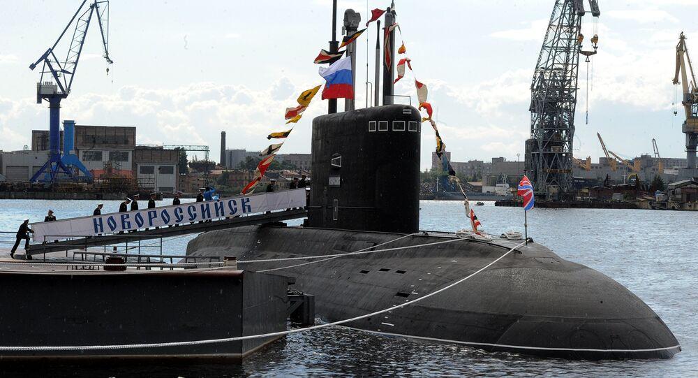 Novorossiysk B-261 multipurpose diesel-electric submarine in Saint Petersburg
