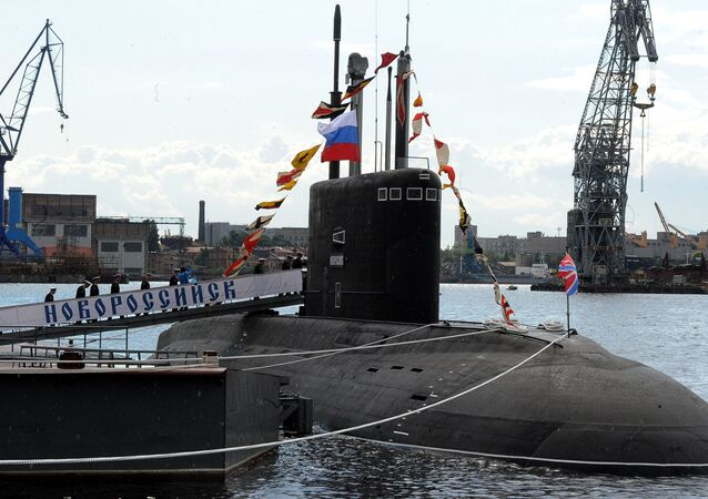 Novorossiysk B-261 multipurpose diesel-electric submarine in Saint Petersburg