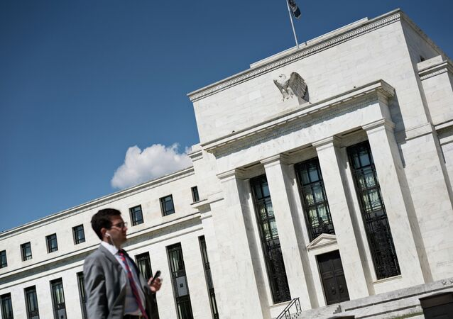 A view of the Federal Reserve September 17, 2015 in Washington, DC. The Federal Reserve held its key interest rate locked at zero Thursday, pointing to the downturn in the global economy even as US growth remains steady.