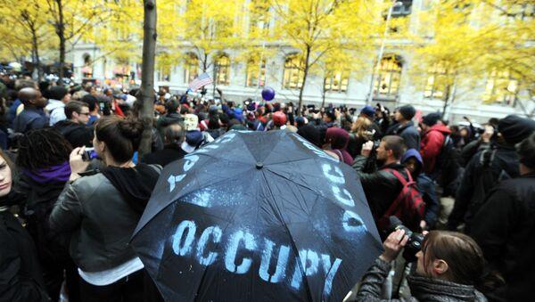 Demonstrators with 'Occupy Wall Street' in Zuccotti Park. (File) - Sputnik International
