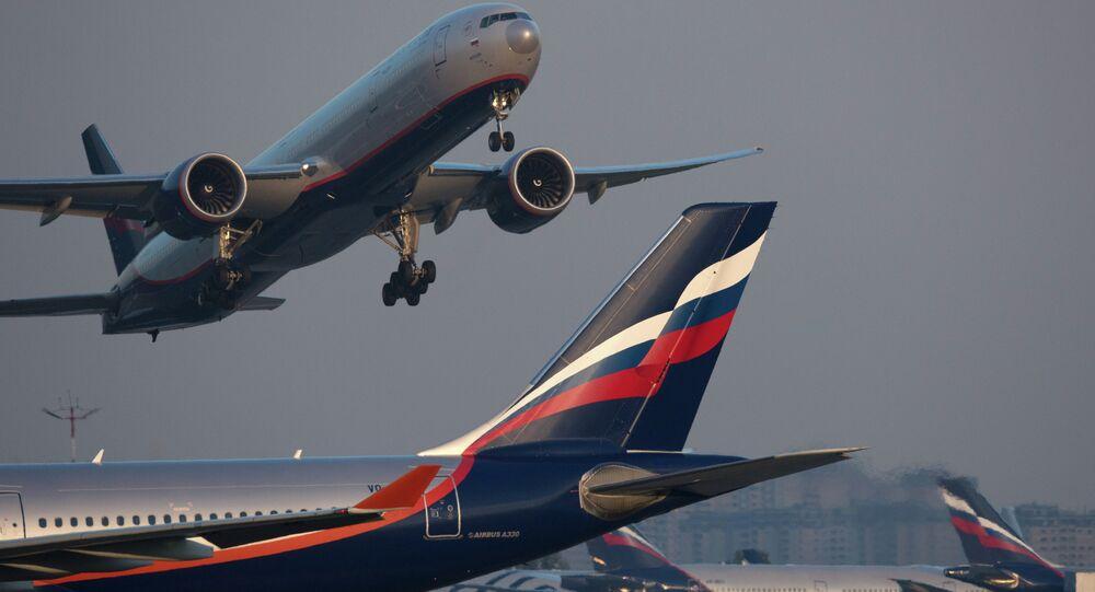 An Aeroflot Airbus A330 aircraft