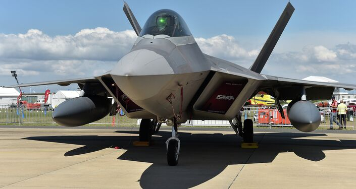 A US Air Force F-22 fighter.